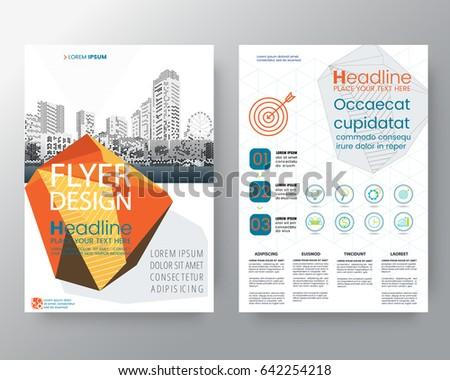 Business Templates Creative Design Abstract Orange Stock Vector ...
