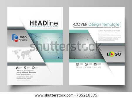 Business Templates Brochure Magazine Flyer Booklet Stock Vector Hd