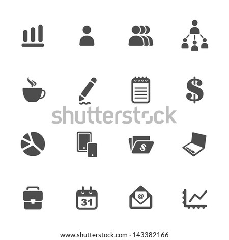 Business theme icons - stock vector