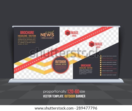Business Theme Outdoor Banner Design, Advertising Vector Design Template  - stock vector