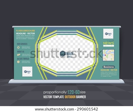 Business Theme Outdoor Banner Design, Advertising Vector Template  - stock vector