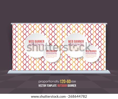 Business Theme Outdoor Banner or Horizontal Website Banner Design, Advertising Vector Template  - stock vector