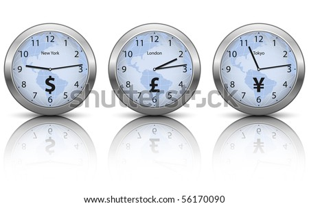 Business time, vector - stock vector