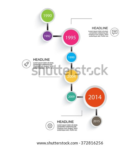 Business timeline Infographic. For your project report presentation templates. - stock vector