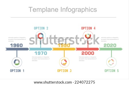Business Timeline Infographics Vector Design Template Stock Vector - Business timeline template