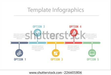 Business Timeline Infographics vector design template for financial reports, website, infographic statistics. - stock vector