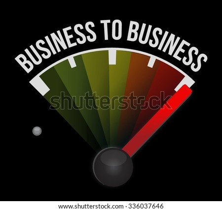 business to business meter sign concept illustration design graphic