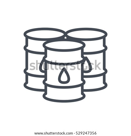 Business Trading Finance Trade Outlined Line Vector Icon Illustration Oil Barrel