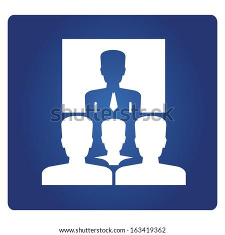 business training symbol - stock vector