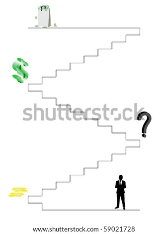 Business trip to success - stock vector