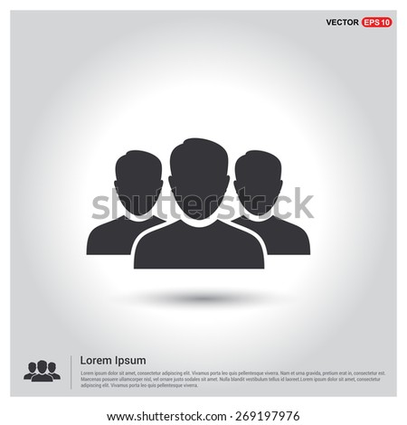 Business User Icon. Users Group Icon. Team Concept. Social Community Icon. Business Man friends. Icons for People, Social Media, Teamwork concept. Flat style design Pictogram icon.  - stock vector