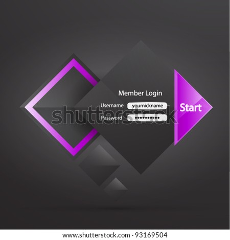 Business user login page - stock vector