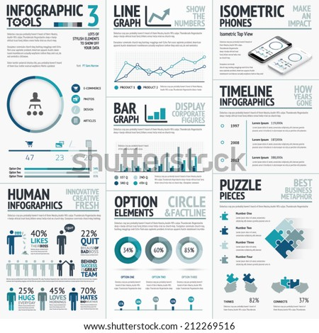 Business Vector Elements for Data Visualization Infographics - stock vector