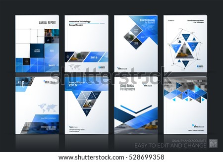 Business Vector Set Brochure Template Layout Stock Vector - Brochure template
