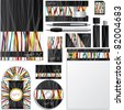 Business vector set with ribbon design - stock vector