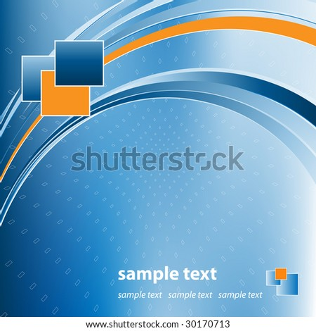 business vector template with copy space and logo