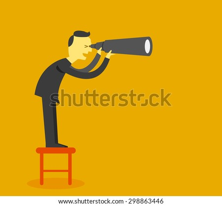 business vision concept - stock vector