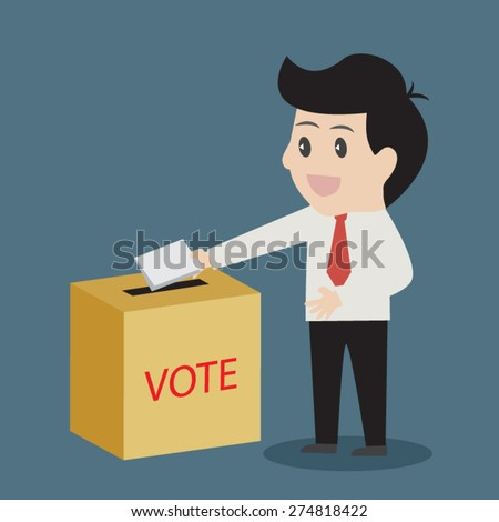 Business Voting - stock vector