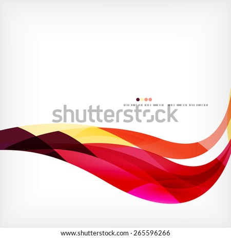 Business wave corporate background, flyer, brochure design template - stock vector