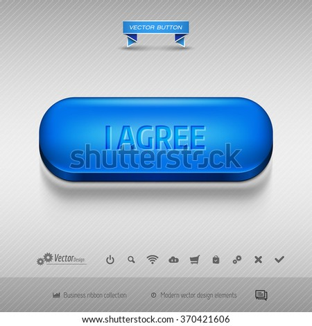 Business web buttons for website or app. Vector design elements. - stock vector