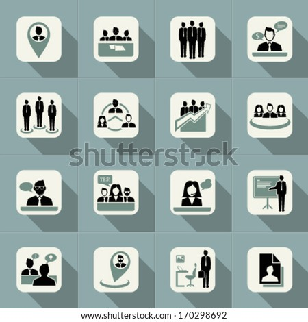 Business web logo icon set, management and human resource set. Graphic Design Editable For Your Design.  - stock vector
