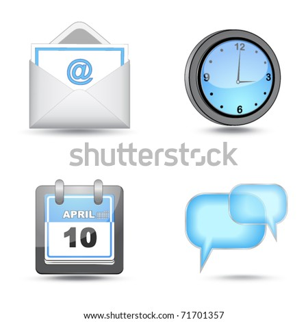 business website icon set - stock vector