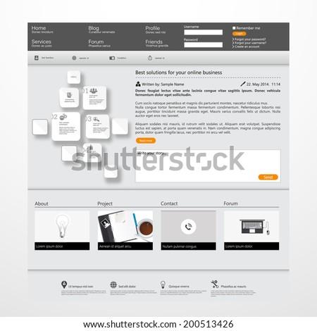 Business Website Template  - stock vector
