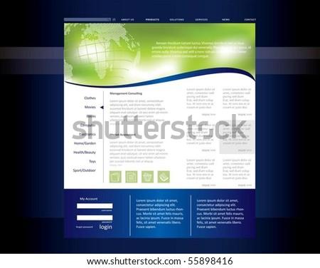 Editable Web Template Stock Vector 31667668 - Shutterstock