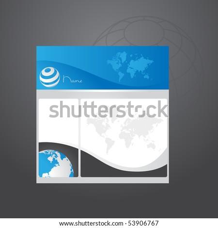 Business website template, Vector. - stock vector