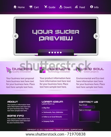 Business Webtemplate or Wordpress Blog Graphic with Modern Clean lines. - stock vector