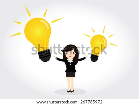 Business woman can get good idea