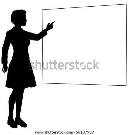 teacher silhouette clip art