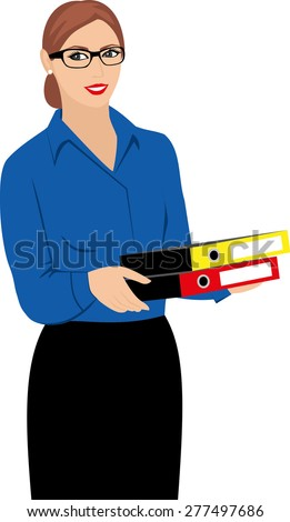 Business Woman - Stock Illustration - stock vector