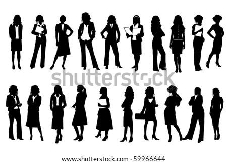 Business women - stock vector