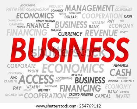 BUSINESS word cloud concept - stock vector