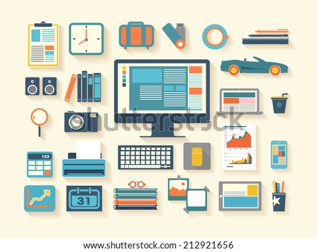 business work flash design illustration - stock vector
