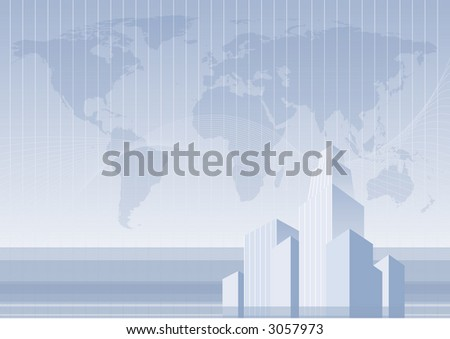 business world concept - stock vector