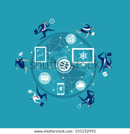 Business World. Concept business illustration - stock vector