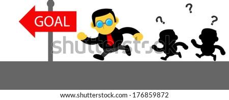 businessman activity - stock vector