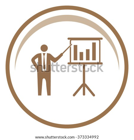 Businessman and blackboard icon. Vector illustration - stock vector