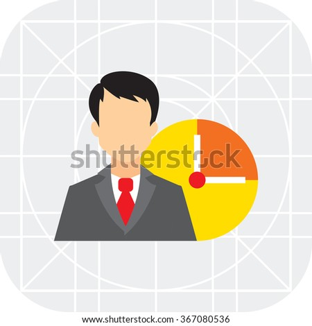 Businessman and clock - stock vector