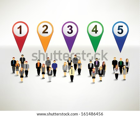 Businessman and numbering infographics vector design - stock vector