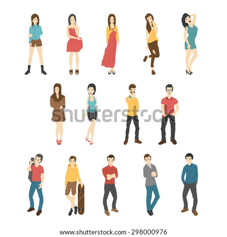 Businessman and woman , eps10 vector format