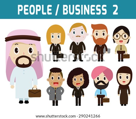 Businessman and woman. people character.