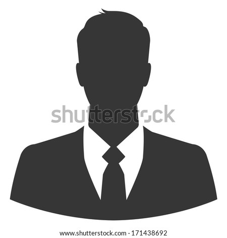 Businessman avatar profile picture - stock vector