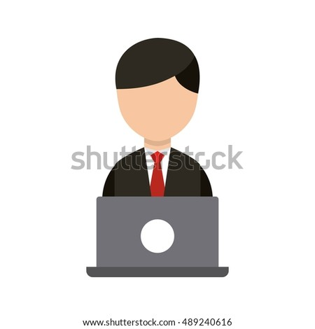 businessman avatar worker icon vector illustration design
