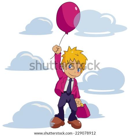 Businessman Balloon - stock vector
