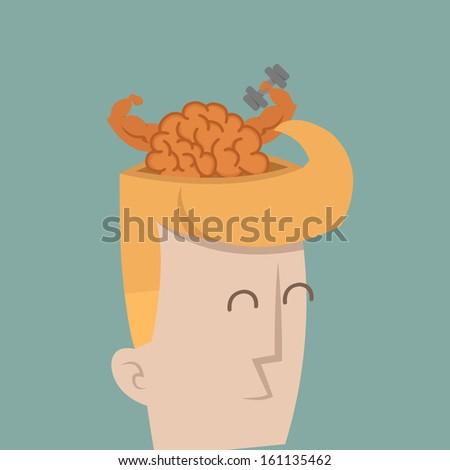 Businessman brain power , eps10 vector format - stock vector