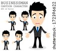 Businessman cartoon character EPS 10 vector - stock