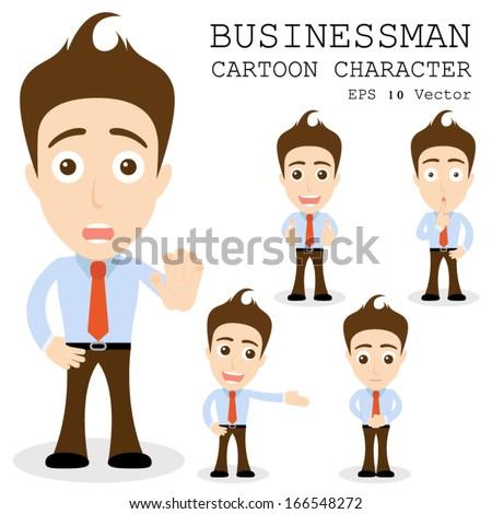 Businessman cartoon character EPS 10 vector - stock vector